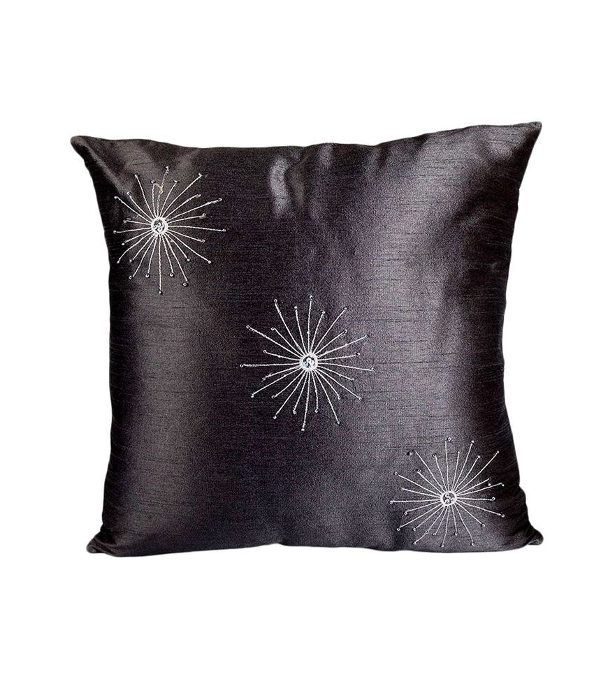 Encasa Home Silk Star Cushion - Set Of 2