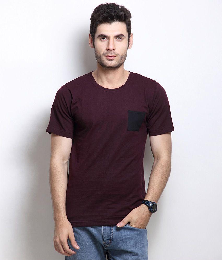RIGO Maroon Cotton  T-Shirt