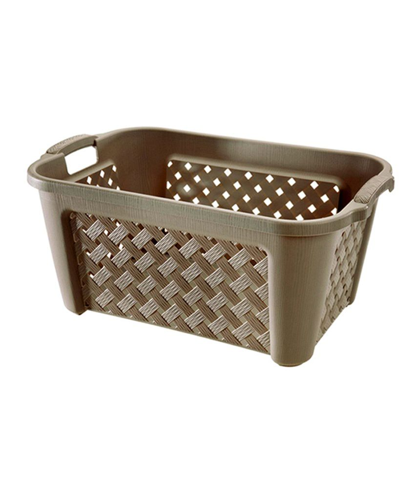 Tontarelli Europe Brown Plastic Laundry Basket Online At Low Price Snapdeal