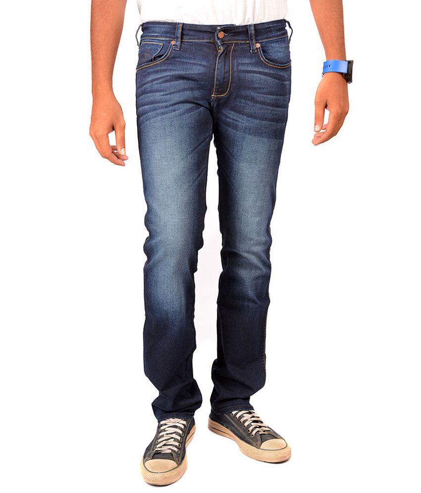 Wrangler Blue Cotton Jeans