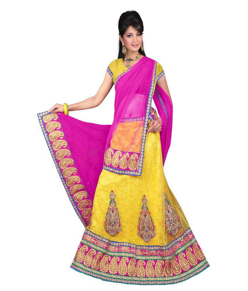 Lavanya Lavanya Designer 3 Piece Lengha (Multicolor)