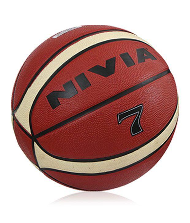 Nivia 7 Brown Rubber Basketball / Ball
