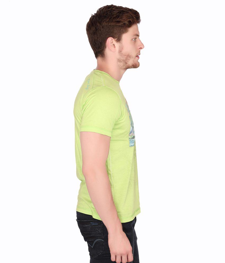 Fritzberg Cotton Half Printed T-shirt