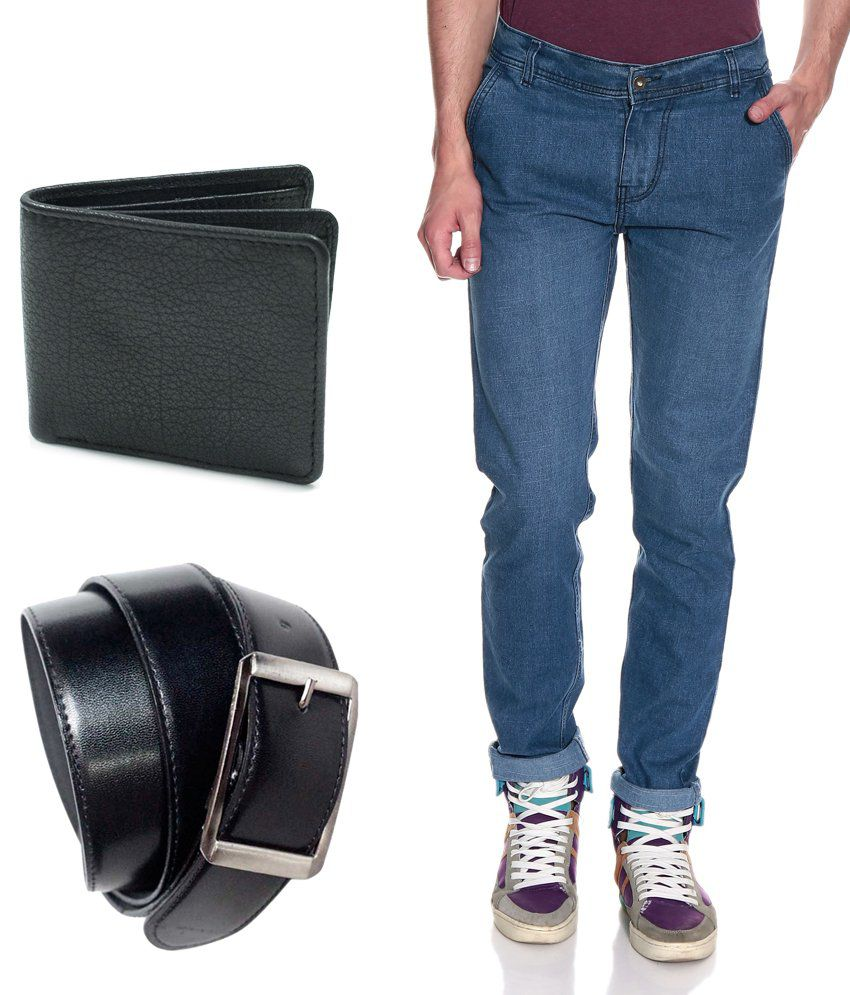 Fashion Blue Slim  Jeans
