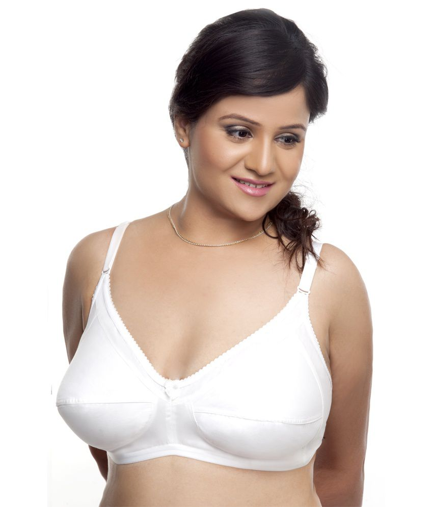 0d9565680f5 Buy Fittme White Cotton Bra Online at Best Prices in India - Snapdeal