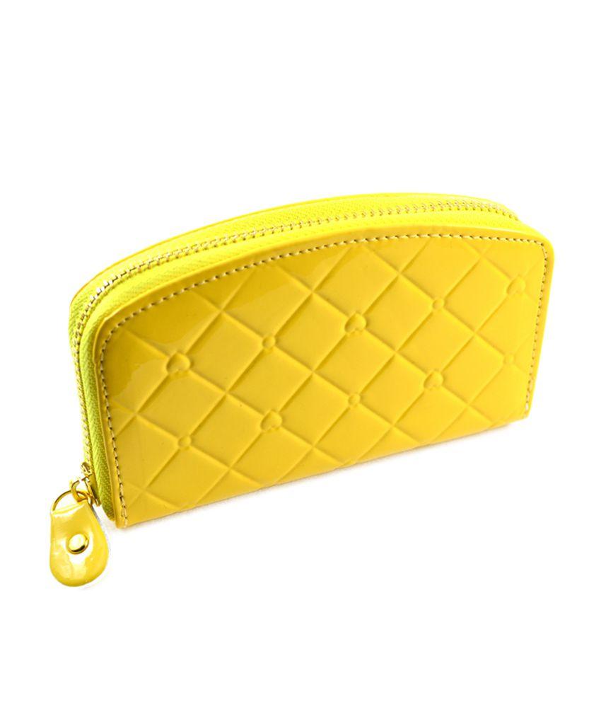 Jks Yellow Non Leather Women Wallet Clutch