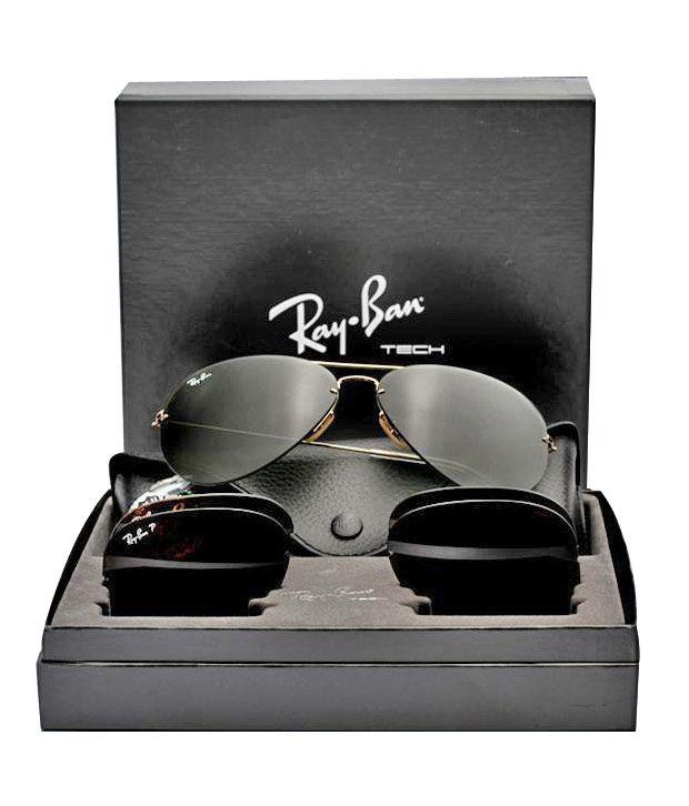 5cbec8a7e5 Ray-Ban RB3460 001 71 Aviator Size 59 Sunglasses - Buy Ray-Ban ...