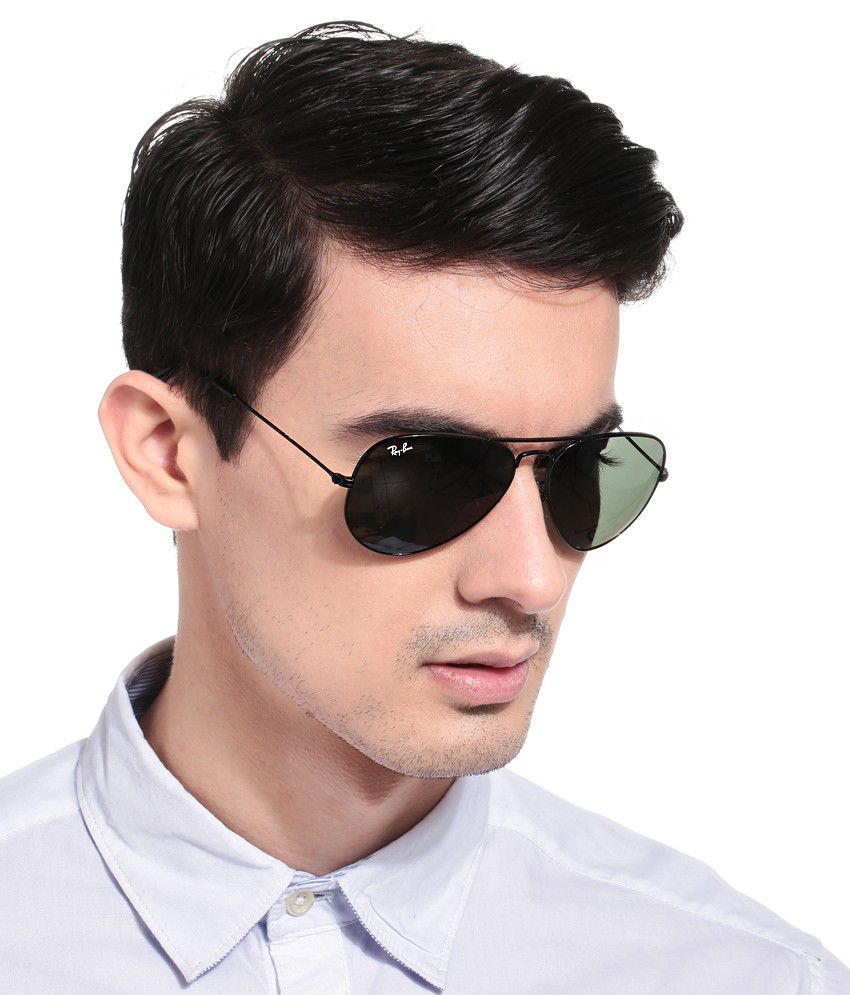 ... Ray-Ban Green Polarized Aviator Sunglasses (RB3025 004/58 58-14) ...