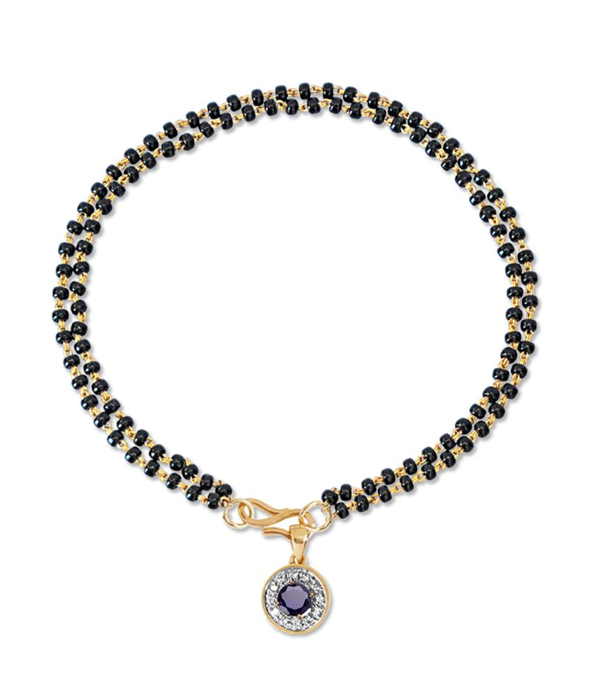 18kt Gold Stylish Diamond Evil Eye Mangalsutra Bracelet By