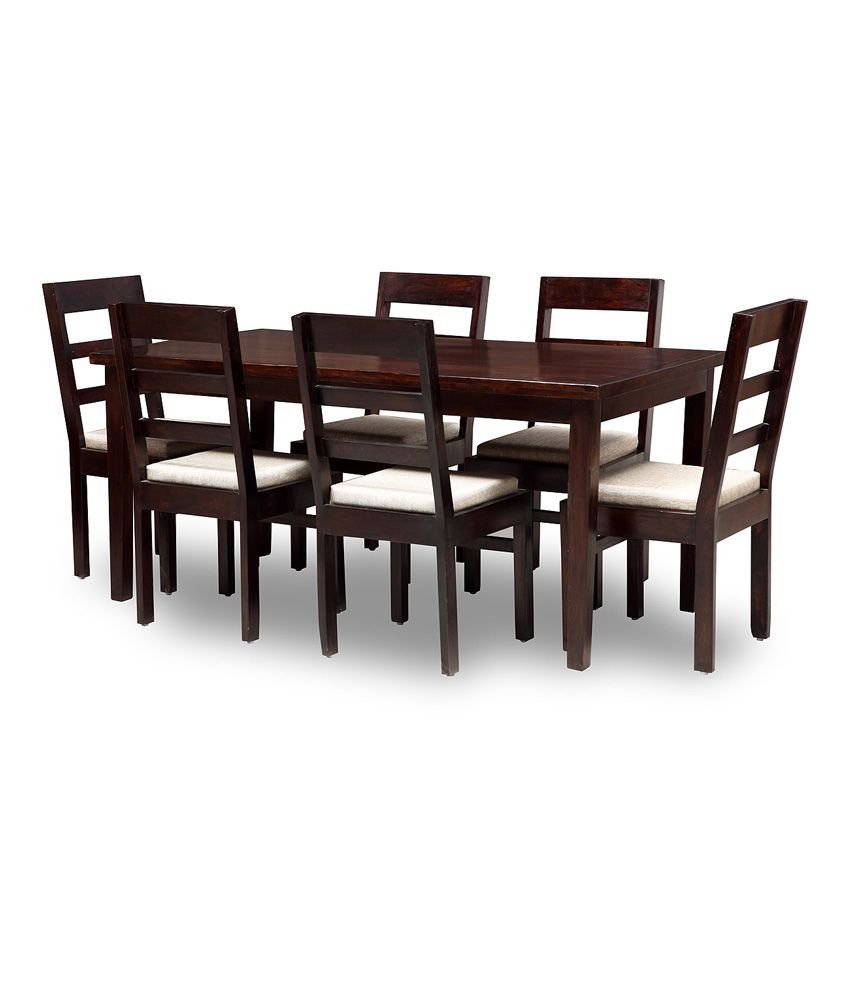 wood 6 seater dining set online at best prices in india on snapdeal