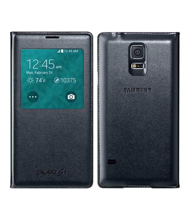 detailed look d218e da10e Celmate Flip Cover For Samsung Galaxy S5 - Black