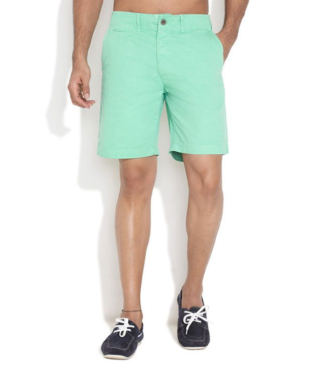 Nature Green Cotton Solids Shorts