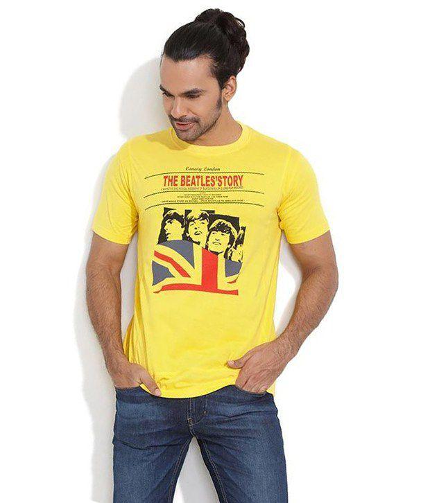 Canary London Yellow Cotton T-shirt