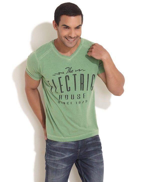 Pepe Jeans London Green Cotton T-shirt
