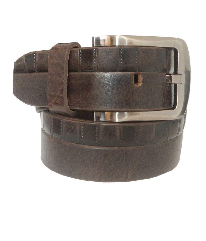 Silverbull-Pure Leather Brown Designer Belt