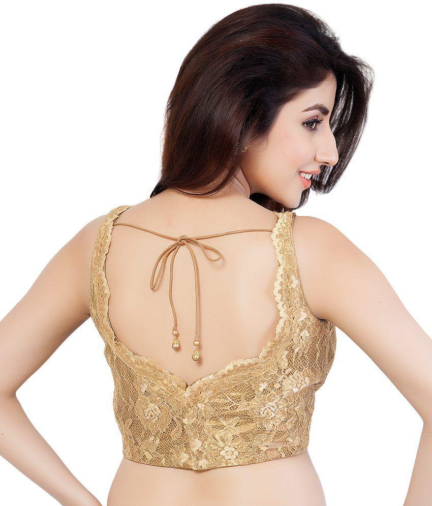 Vamas Gold Lace Crochet Designer Blouse Buy Vamas Gold Lace