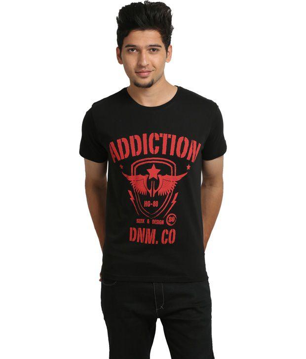 Blumerq Black Cotton  T-Shirt