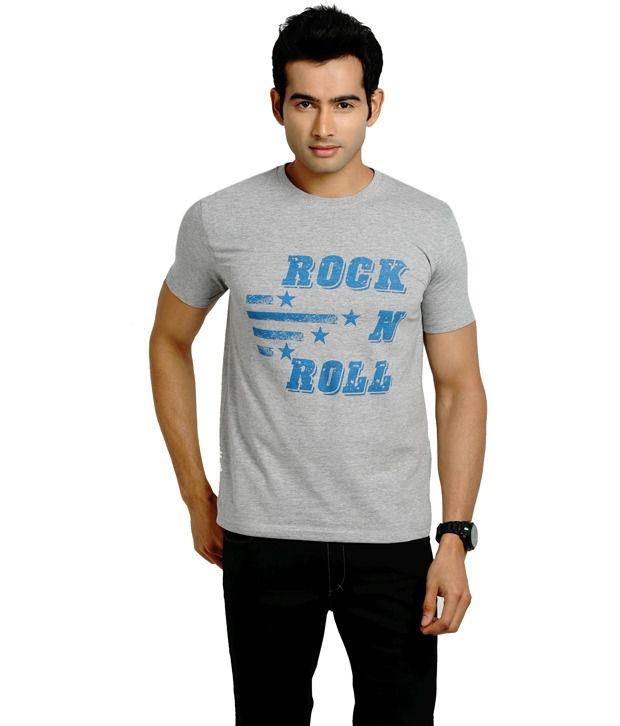 Blumerq Gray Cotton  T-Shirt