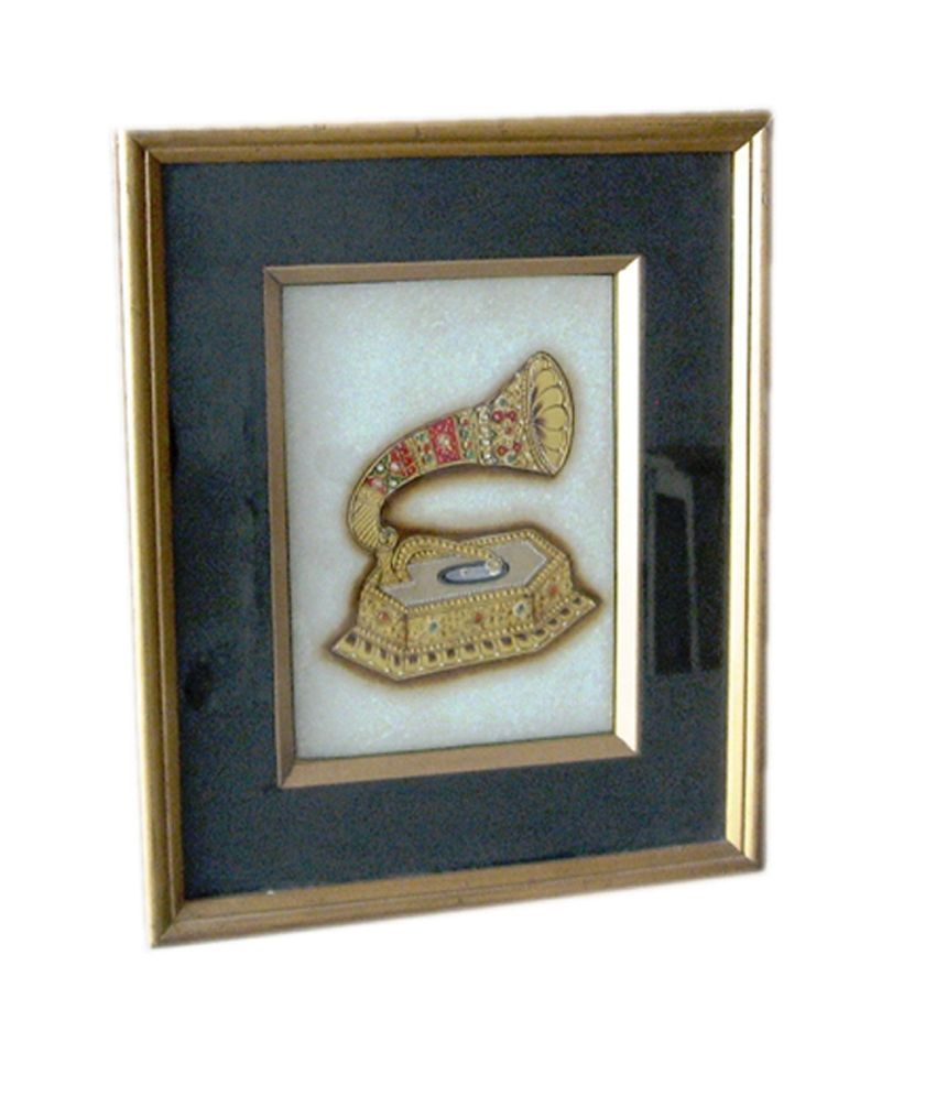 Icb Gramophone Painting On Marble
