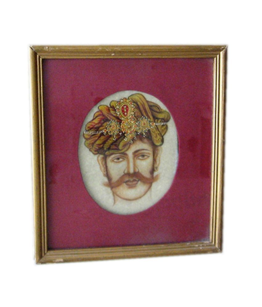 Icb Tourban With Jewellery Painting On Marble