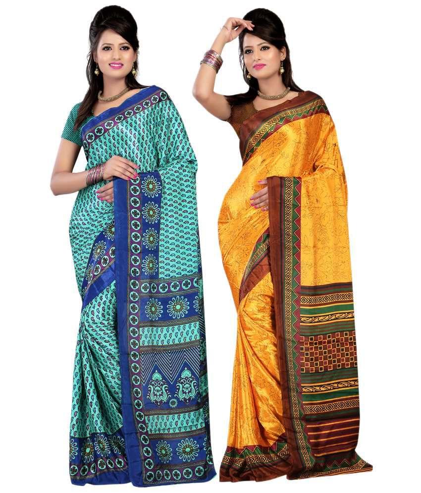 Sanju Sarees Multi Color Art Silk Saree