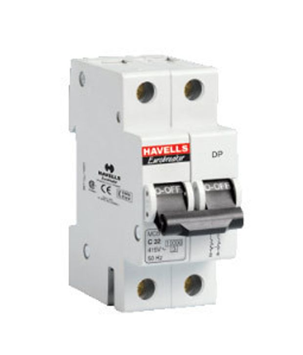 Buy Havells 25A Double Pole MCB (Miniature Circuit Breaker) Online ...