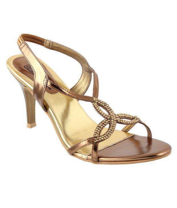 Mochi Gold Stiletto Sandals