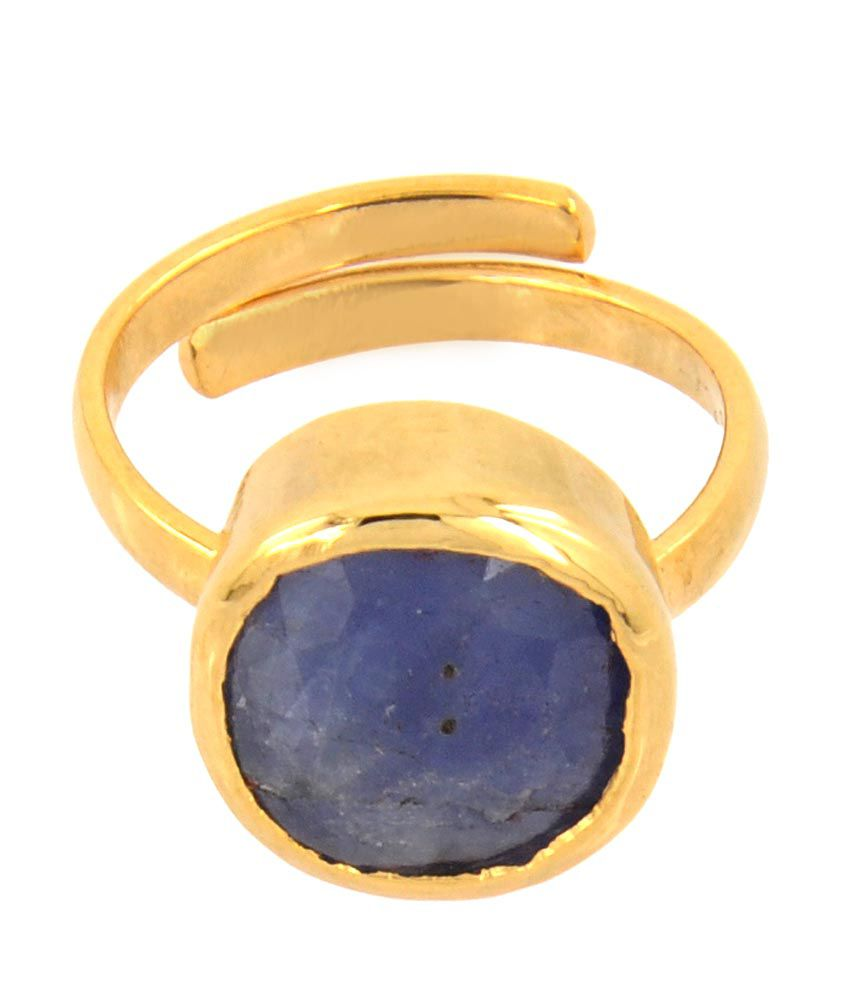 Barishh Adjustable 6.25 Ratti Blue Sapphire 5 Dhatu Astrology Approved Ring