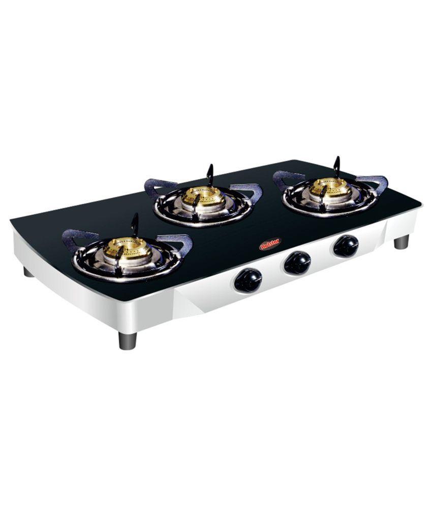 Hotstar 3 Burner Black Glass Cook Top