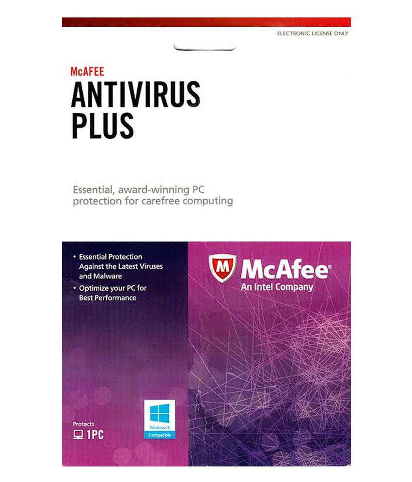 McAfee Anti Virus Plus - 1 User-1 Year (Electronic License Only)