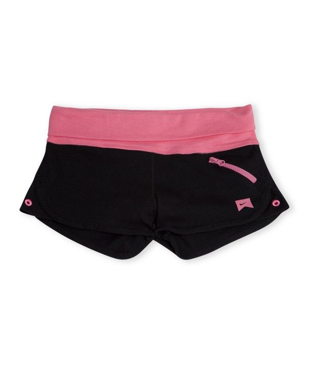 Nike Action Black Color Knit Short For Girls