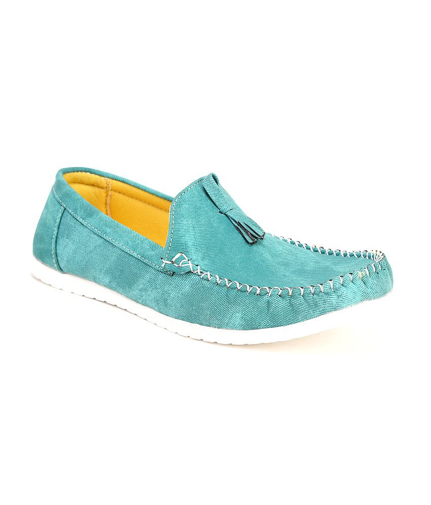 Quarks Blue Synthetic Leather Casual Shoes