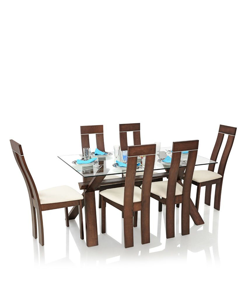 Royaloak Olive Dining Set With 6 Chairs