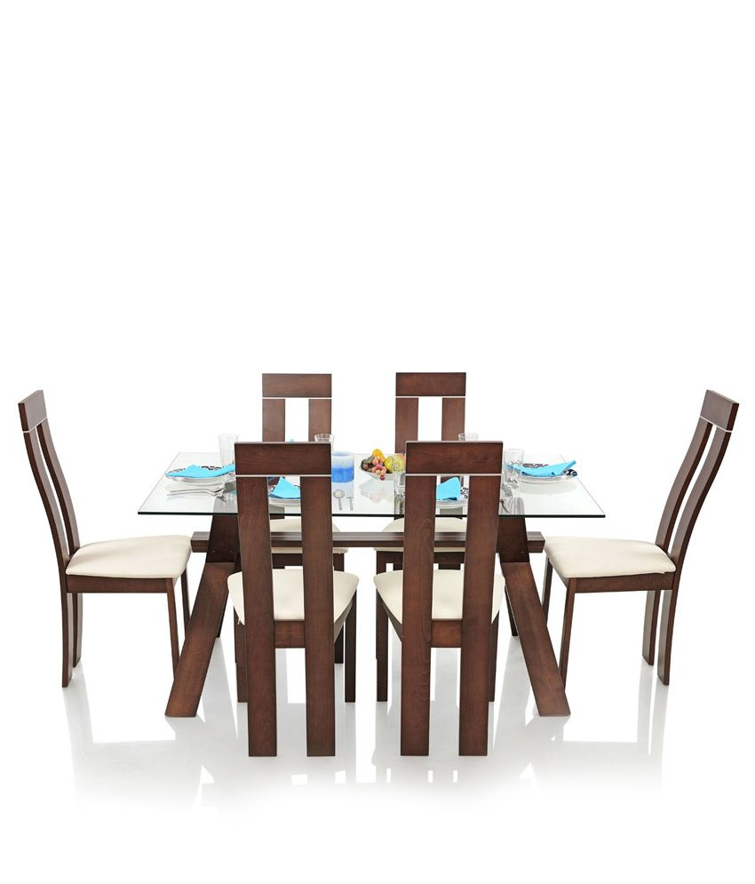 royaloak olive dining set with 6 chairs solid wood buy royaloak rh snapdeal com