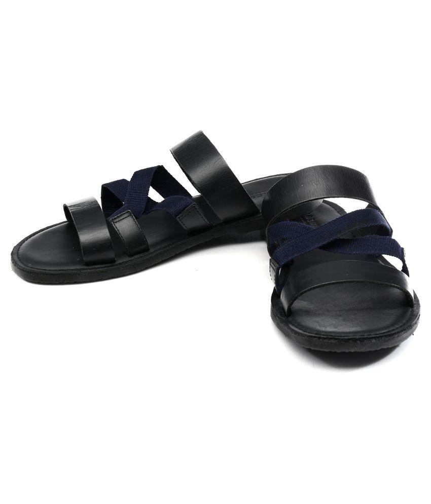 Black sandals jones -  Jack Jones Black Sandals