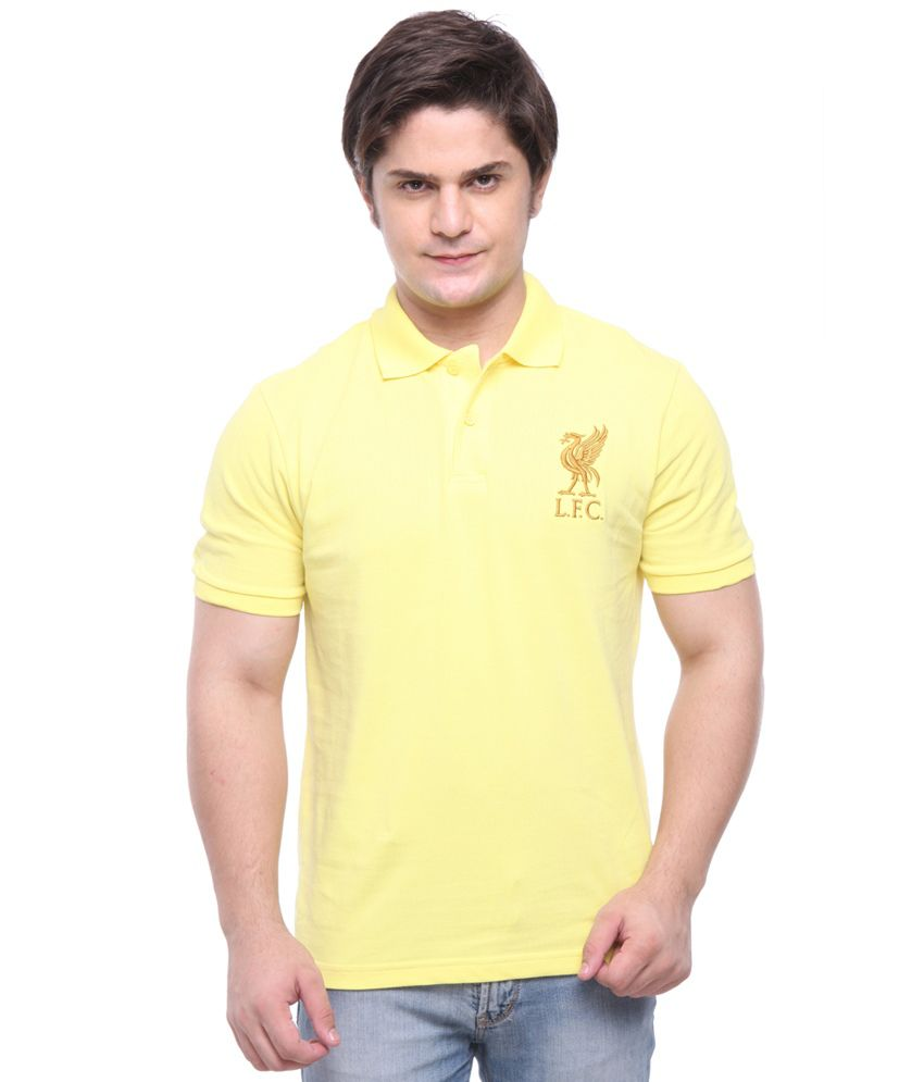 LiverPool Mens Casual T-Shirt Yellow