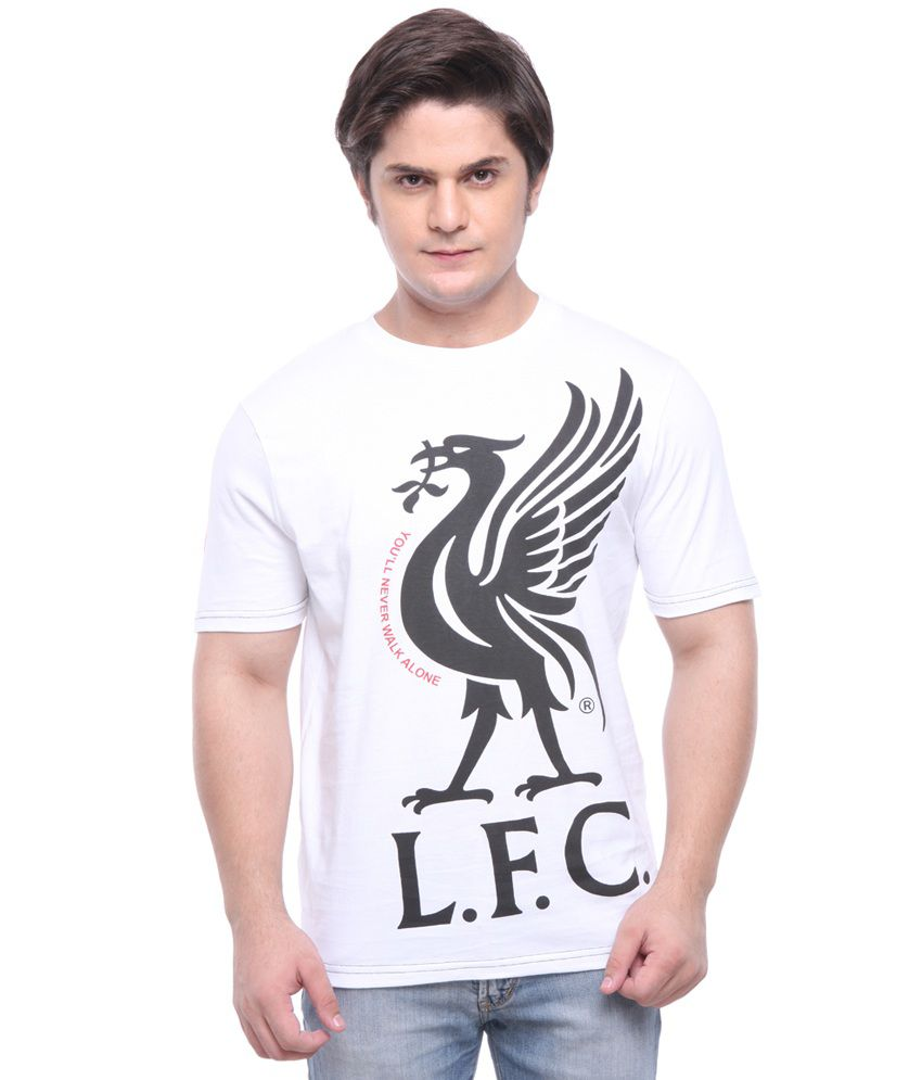 LiverPool Mens Casual T-Shirt White