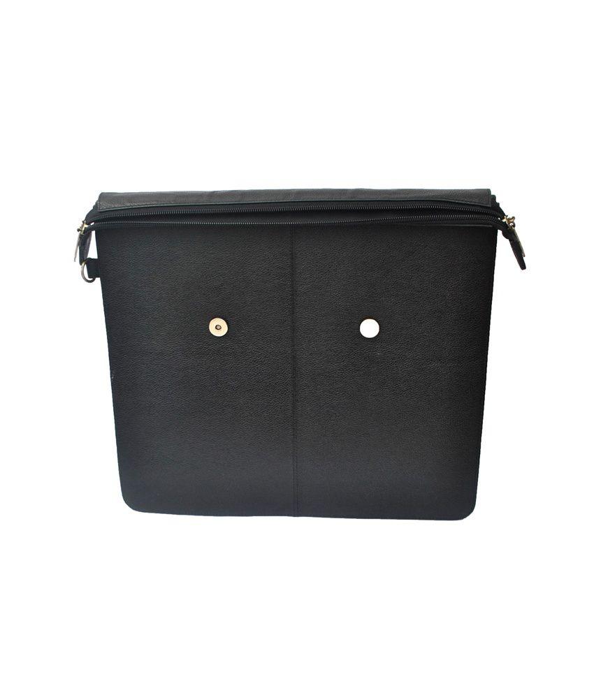6bfb068d01d Modish Unisex Genuine Leather Laptop Bag - Black - Buy Modish Unisex ...