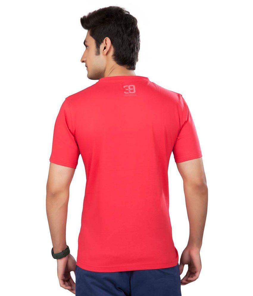 39 Fusia Round Neck PrintedTshirt