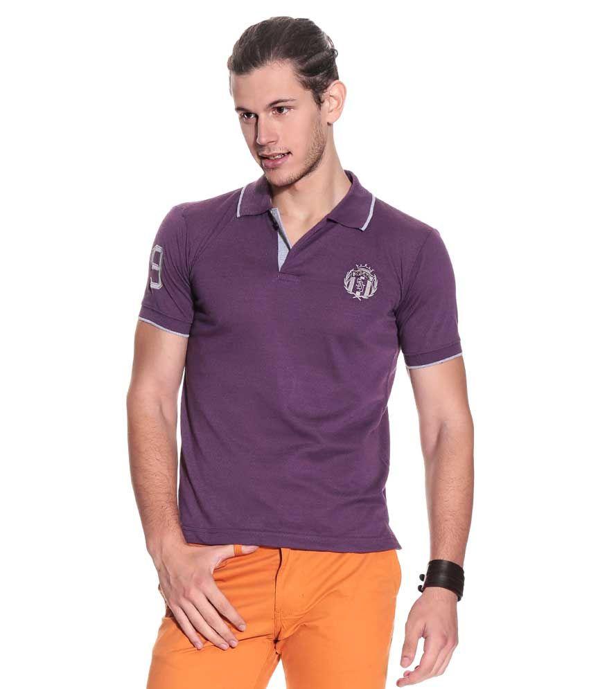 Duke Duke Purple  Polo T-Shirt (Violet)