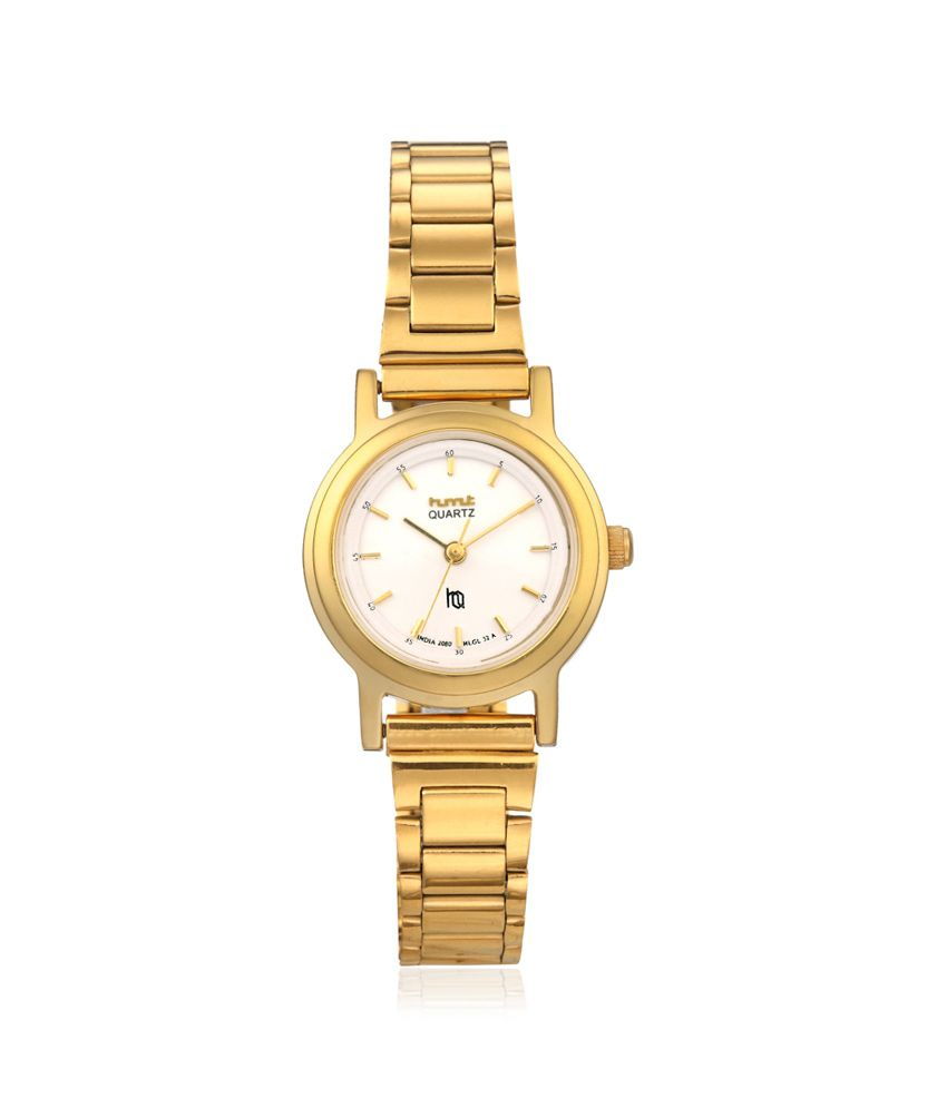 hmt quartz gold plated white for price in