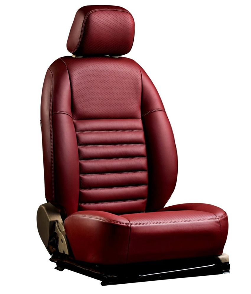 Ovion Red Art Leather Seat Covers Buy Ovion Red Art