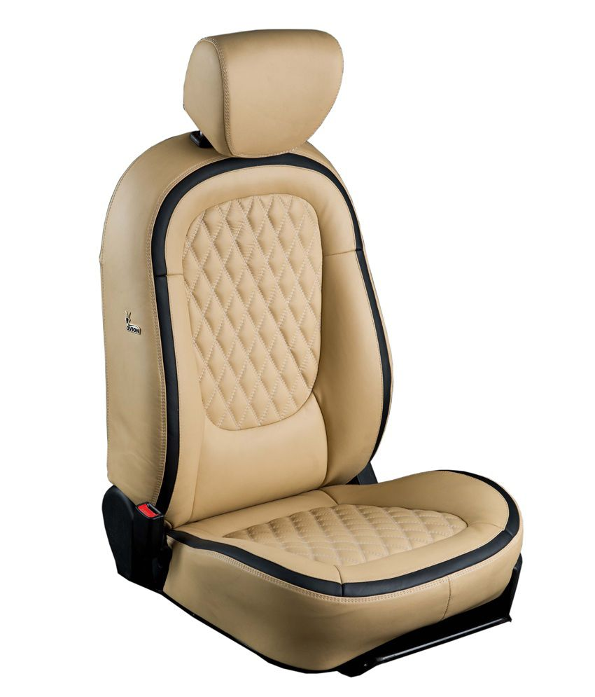 Ovion White Art Leather Seat Covers Buy Ovion White Art