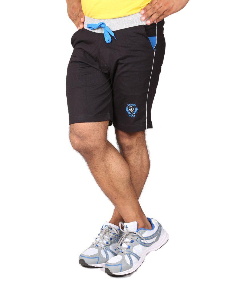 Sports 52 Wear Mens Shorts-S52Wgf009A-Blk-Blu-Xxl