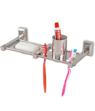 Doyours DY 0377 Stainless Steel Soap Dish/Holder/Toothbrush Holder/Toothpaste Holder  Bathroom Accessories