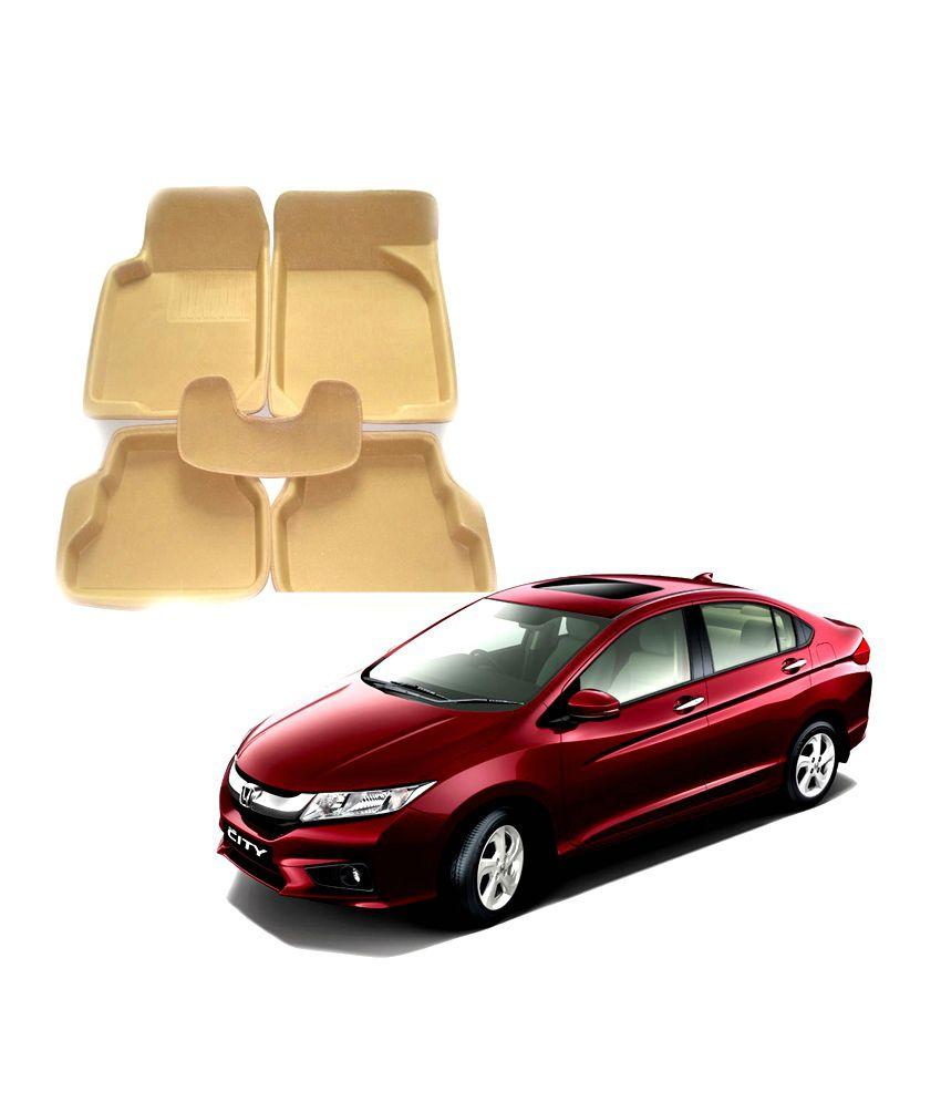 Auto pearl 3d car mats for honda city idtec new model beige