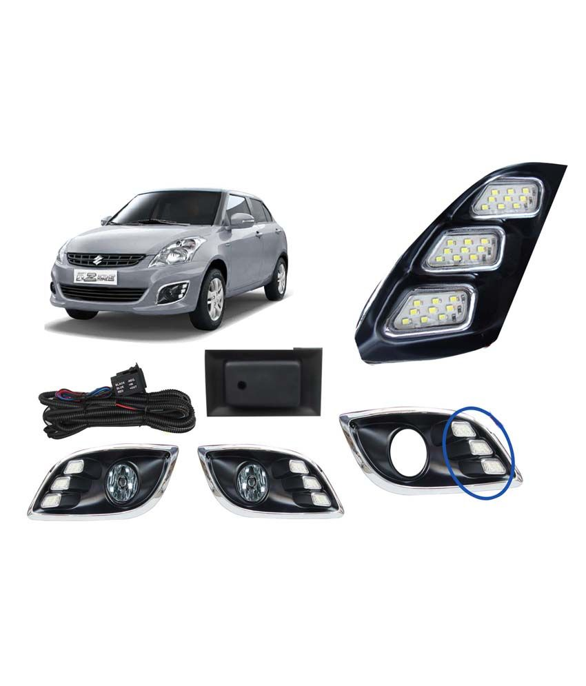 Auto Pearl Led Daytime Running Light Drl For Maruti Suzuki Swift Wiring A Switch In The Middle Of Run Dzire New Model With Fog Lamps