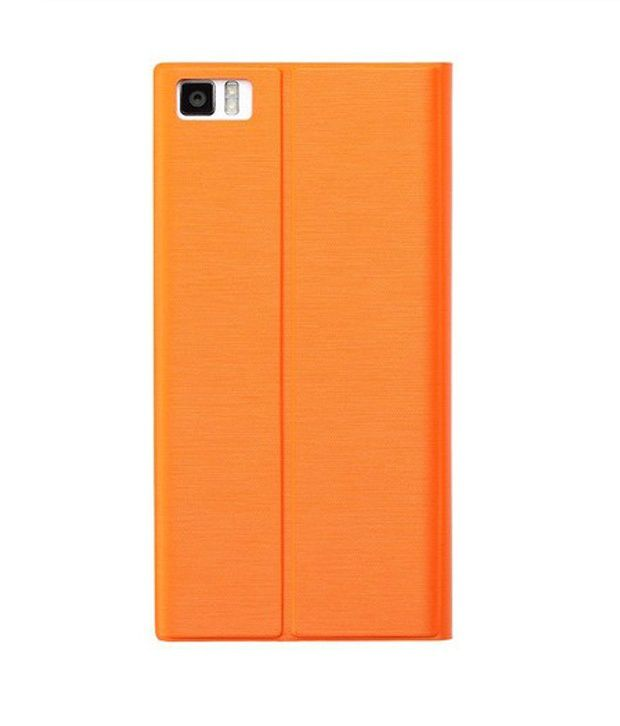 best website 26f75 85a7a Xiaomi MI3 Flip Covers Orange