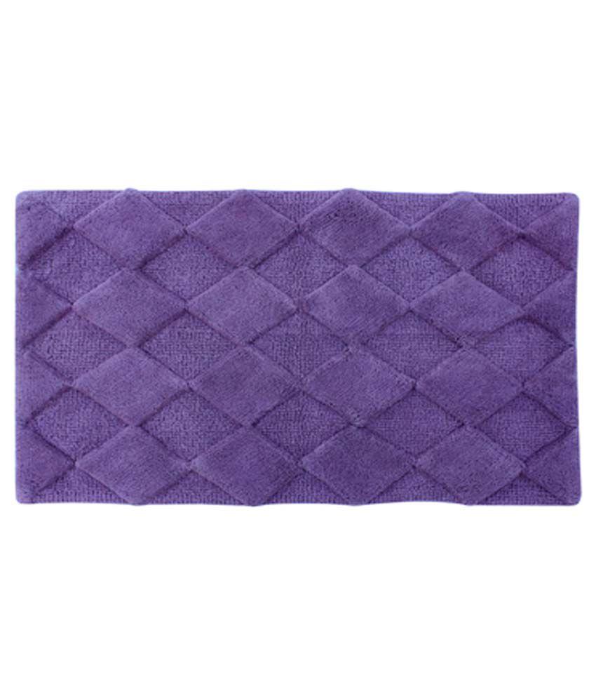 Azaani Diamond Purple Cotton Floor Mat