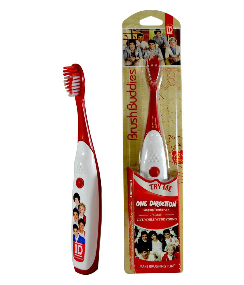 Brush Buddies Red & White Singing Toothbrush